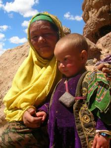 巴米扬山区的哈扎拉人。