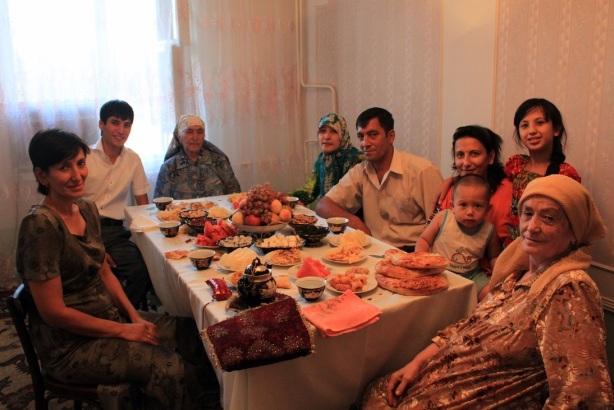 与乌兹别克斯坦人家共度开斋节。